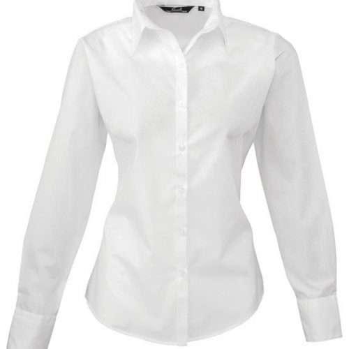 Womens Long Sleeve Poplin Shirt