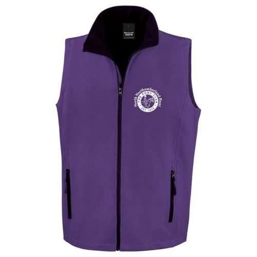 NNHPC Adults Softshell Bodywarmer Purple