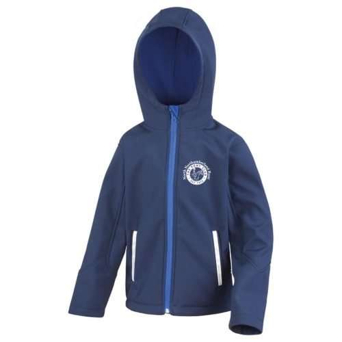 NNHPC Kids Hooded Softshell Jacket Navy