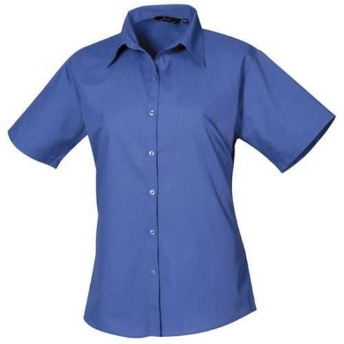 Womens Short Sleeve Poplin Shirt