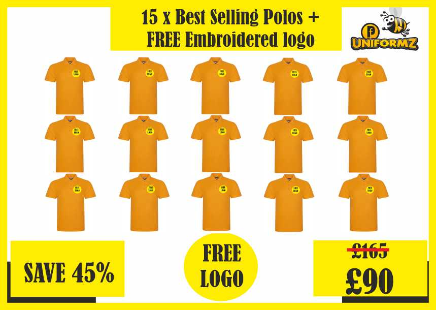 15 x Best Selling Polos