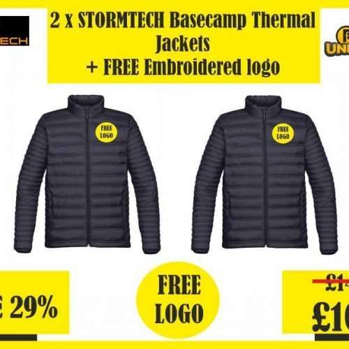 2 x Stormtech Basecamp Thermal Jackets