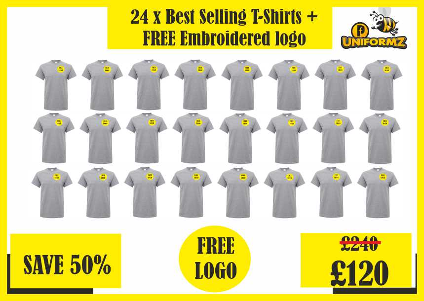 24 x Best Selling T-shirts