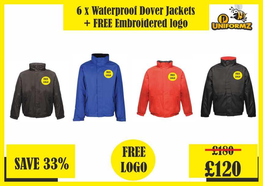 6 x Waterproof Dover Jackets