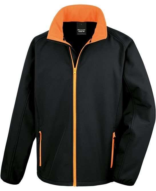 Softshell Jacket VIVID BLACK/ORANGE