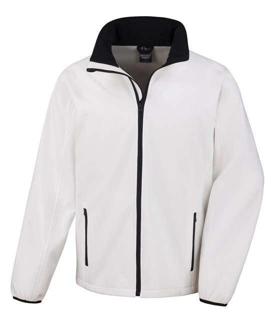 Softshell Jacket VIVID WHITE/BLACK