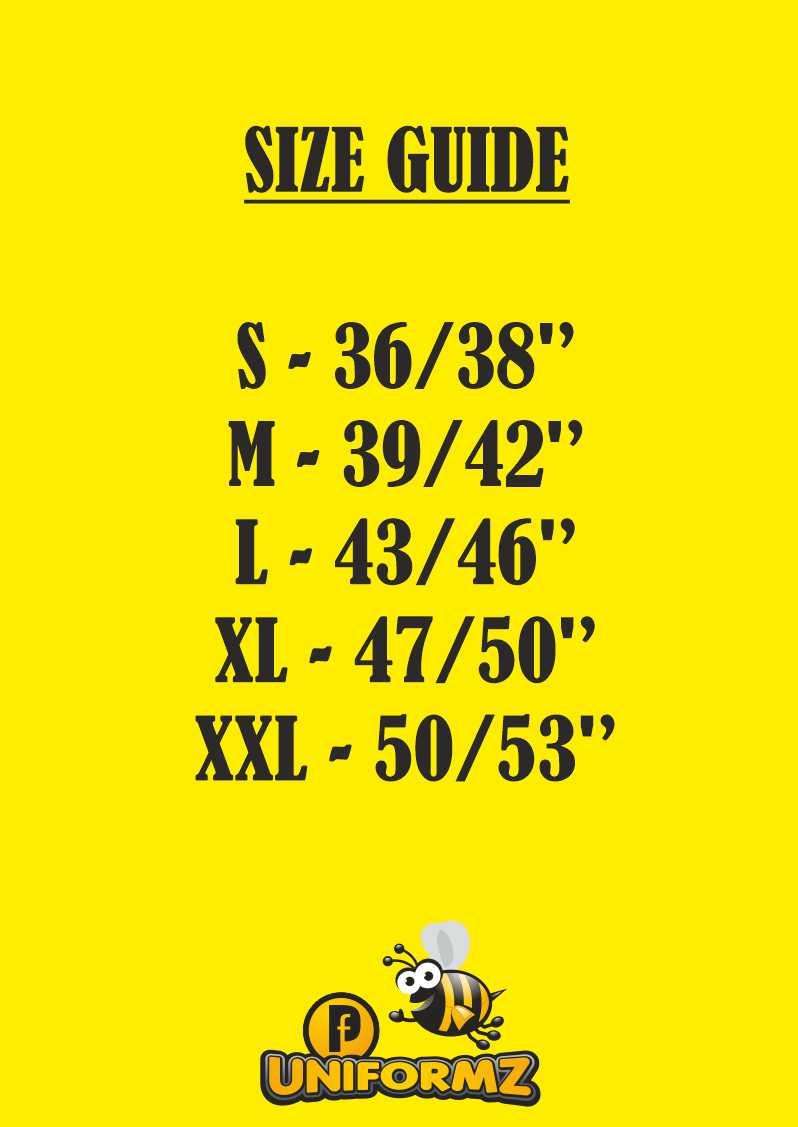 ST154 SIZE CHART